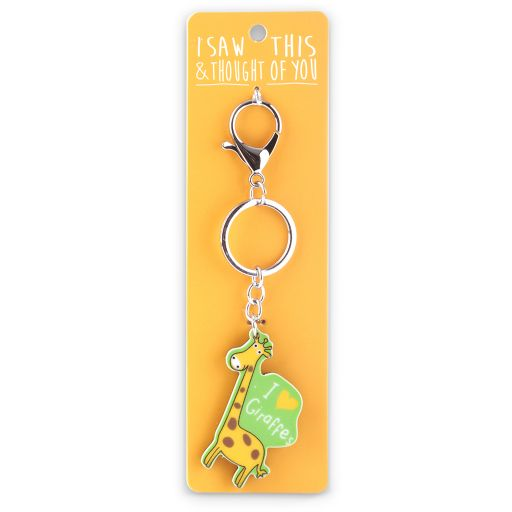Keyring  Zoo - I saw this & thought of You - Giraffe