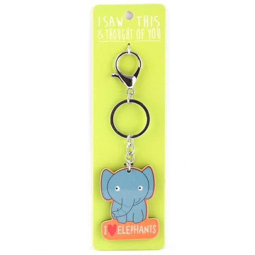 Keyring  Zoo - I saw this & thought of You - Olifant