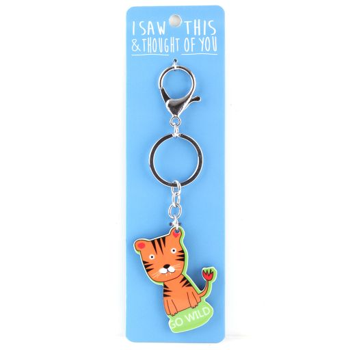Keyring  Zoo - I saw this & thought of You - Tijger