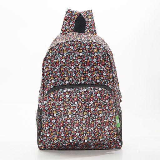 Eco Chic - Backpack - B04BK - Black Ditsy