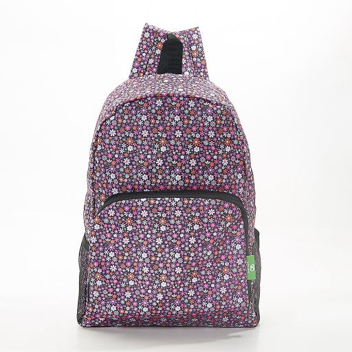 Eco Chic - Backpack - B04PP - Purple Ditsy