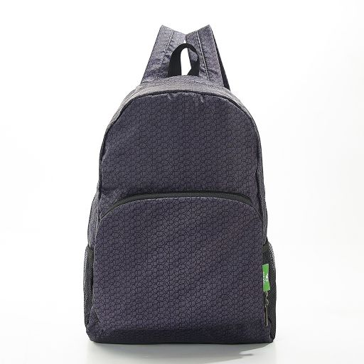 Eco Chic - Backpack - B13BK - Black Disrupted Cubes