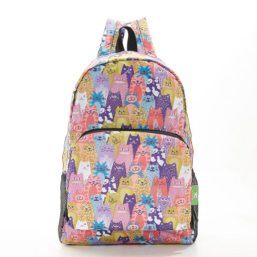 Eco Chic - Backpack - B18ME - Multiple Cats