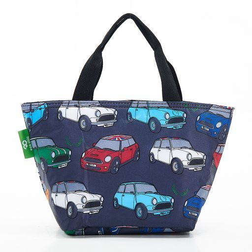Eco Chic - Cool Lunch Bag - C01GY - Grey Cars