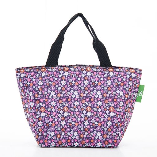 Eco Chic - Cool Lunch Bag - C04PP - Purple Ditsy
