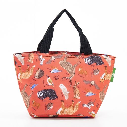 Eco Chic - Cool Lunch Bag - C06RD - Red Woodland