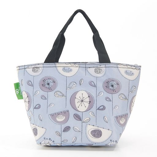 Eco Chic - Cool Lunch Bag - C18GY - Grey 1950's Flower