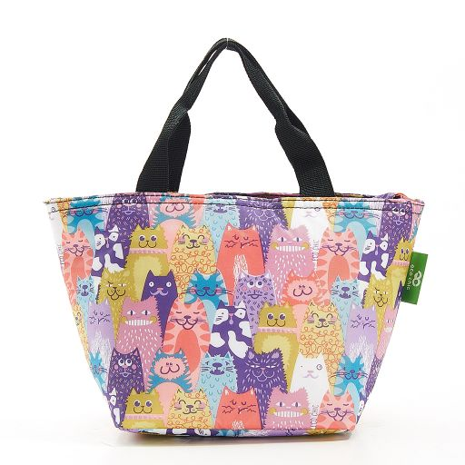 Eco Chic - Cool Lunch Bag - C19ME - Multiple Cats