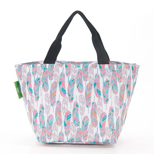 Eco Chic - Cool Lunch Bag - C21WT - White Feather
