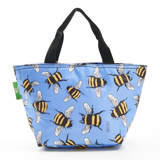 Eco Chic - Cool Lunch Bag - C29BU - Blue Bees