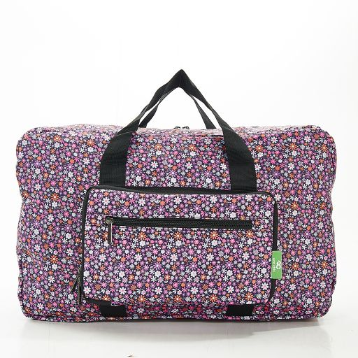 Eco Chic - Foldable Holdall (weekendtas) - D04PP - Purple - Ditsy