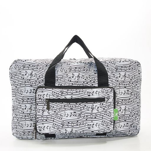 Eco Chic - Foldable Holdall (weekendtas) - D10WT - White - Music