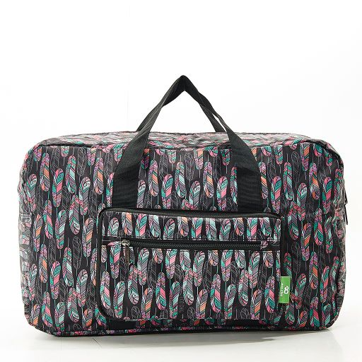 Eco Chic - Foldable Holdall (weekendtas) - D19BK - Black - Feather