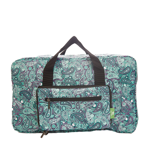 Eco Chic - Foldable Holdall (weekendtas) - D31GN - Green - Paisley