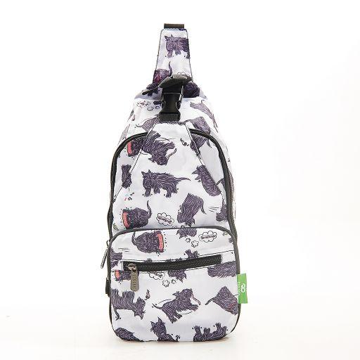 Eco Chic - Cross Body Bag - I03WT - White Scatty Scotty