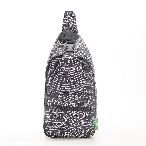 Eco Chic - Cross Body Bag - I04BK - Black Music