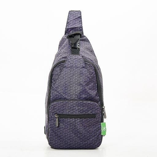 Eco Chic - Cross Body Bag - I06BK - Disrubted Cubes