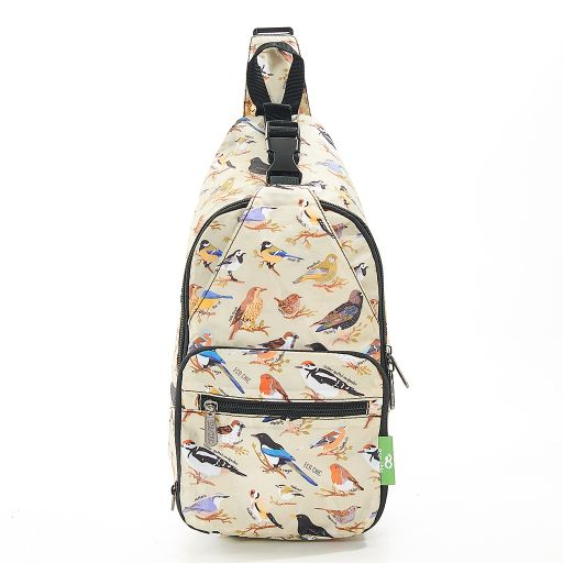 Eco Chic - Cross Body Bag - I07GN - Green Wild Birds