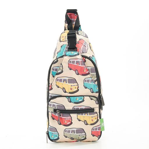 Eco Chic - Cross Body Bag - I11BG - Beige Camper Vans