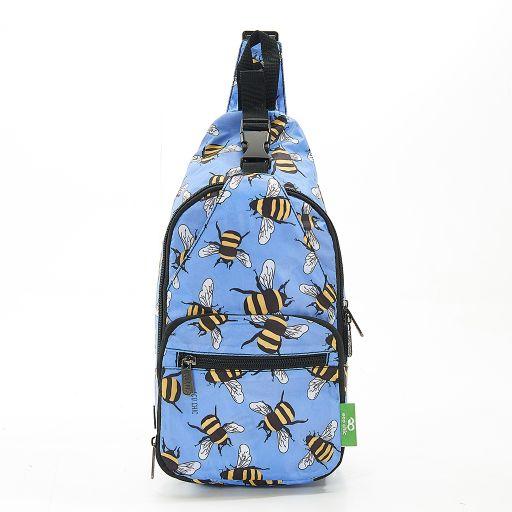 Eco Chic - Cross Body Bag - I13BU - Blue Bees