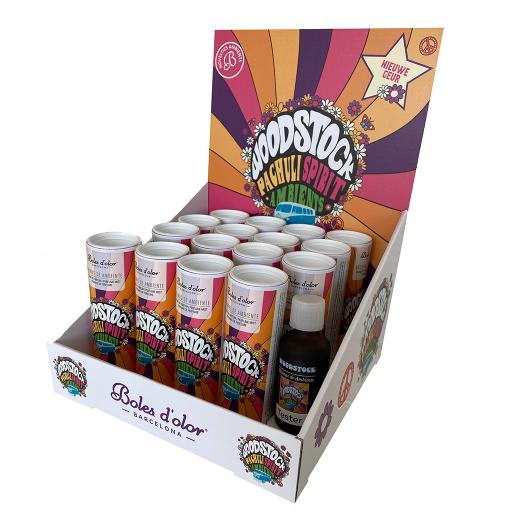 Tafeldisplay gevuld - Boles d'olor -  Geurolie 50 ml - Woodstock