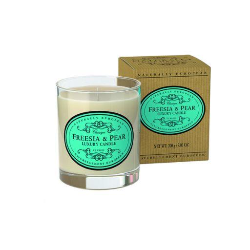 Candle in pot Freesia & Pear