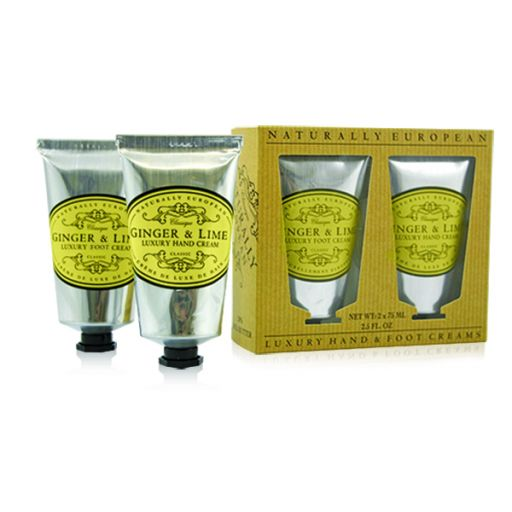 Cadeauset Hand & Foot Cream Ginger & Lime