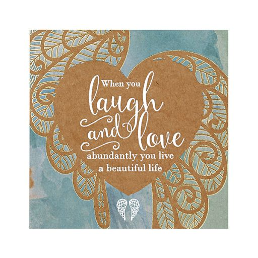 You are an Angel - Mini Wenskaart - When you Laugh and Love....