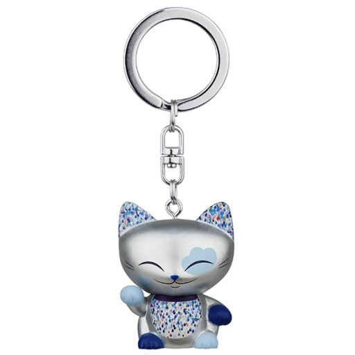 Mani the Lucky Cat - MLCL025 - Sleutelhanger - Cat025 silver (Mani the Cat)