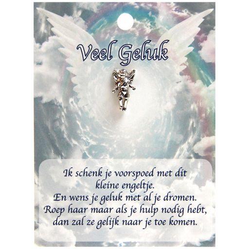 Dierbare engel op pin - Veel Geluk