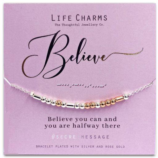Life Charms - SM03 - armband Secret Message - Believe