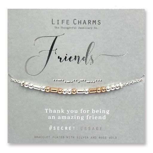 Life Charms - SM09 - armband Secret Message - Friends