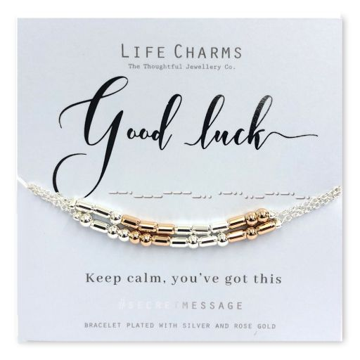 Life Charms - SM10 - armband Secret Message - Good Luck