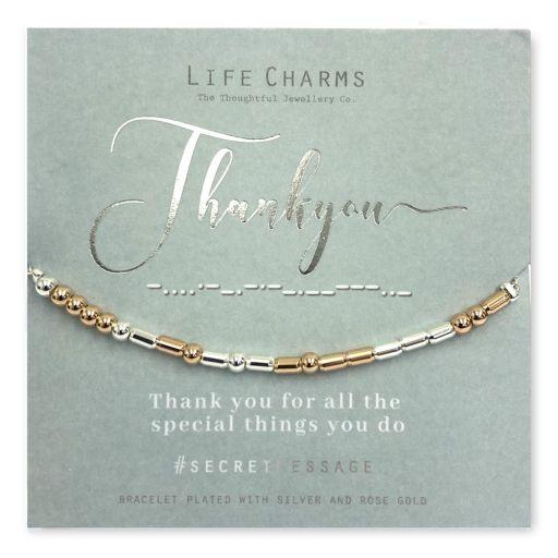 Life Charms - SM16- armband Secret Message - Thank You