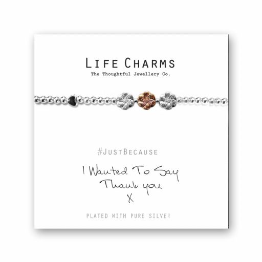 480204 - Life Charms - LC004BW - Just because - Thank You