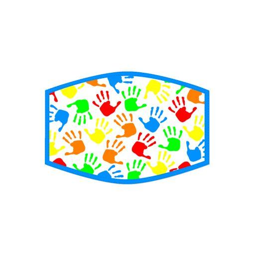 Mondkapje - Kind - Rainbow Hand Prints