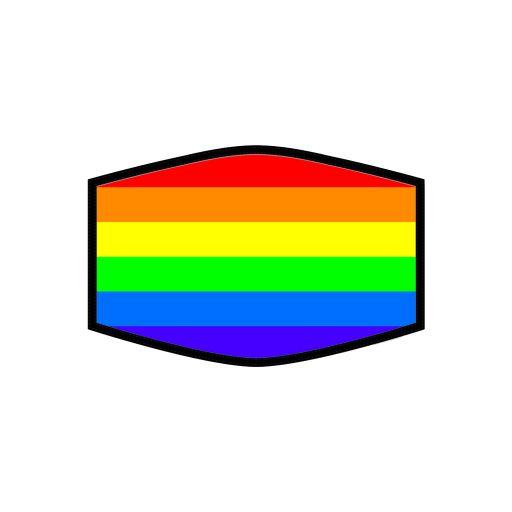 Mondkapje - Rainbow
