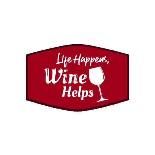 Mondkapje - Life Happens, Wine Helps