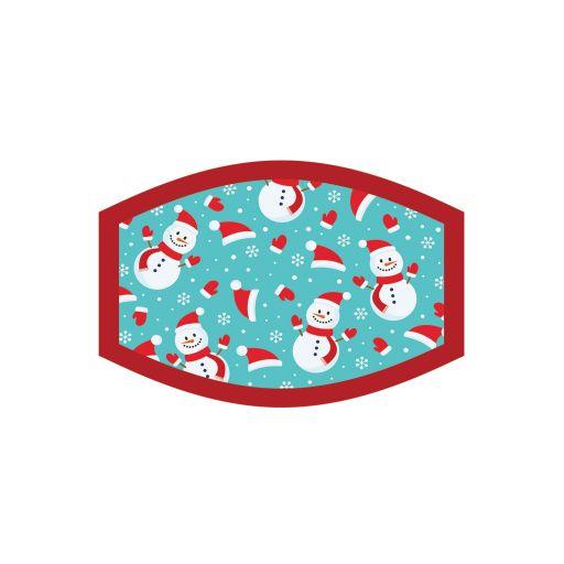 Mondkapje - Kind - Kerst Snowman
