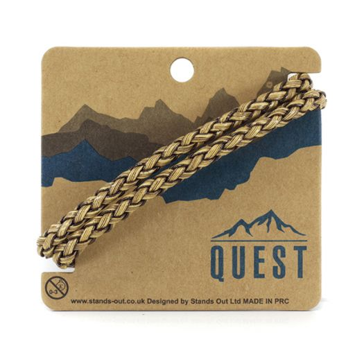 Quest armband Leder Q6 - 2 gevlochten banden