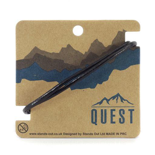 Quest armband Leder Q8 - 3 band glad