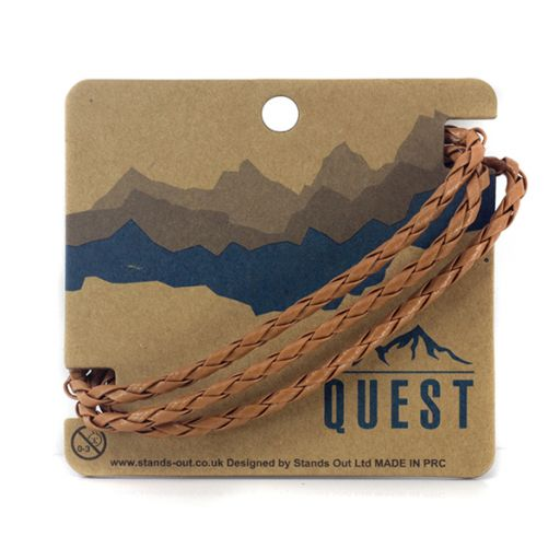 Quest armband Leder Q21 - 3 gevlochten banden