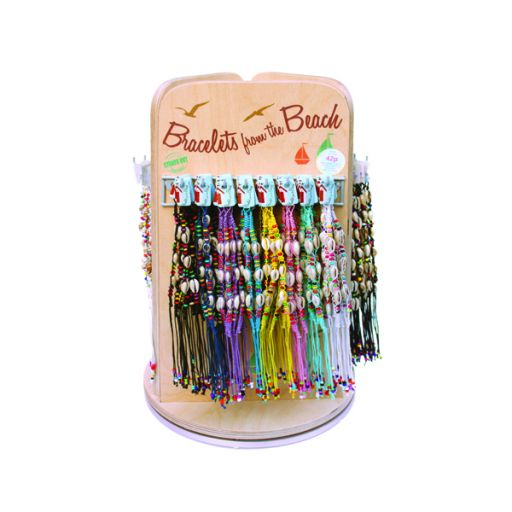Tafeldisplay gevuld met Bracelets of the beach