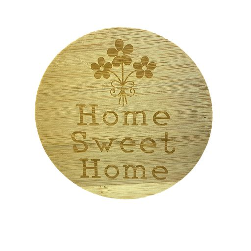 Bamboe deksel - Home Sweet Home