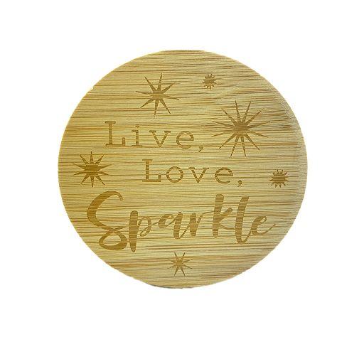 Bamboe deksel - Live, Love, Sparkle
