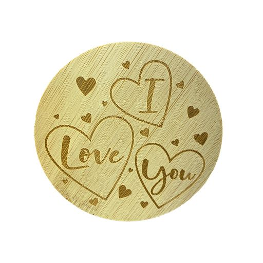 Bamboe deksel - I love you