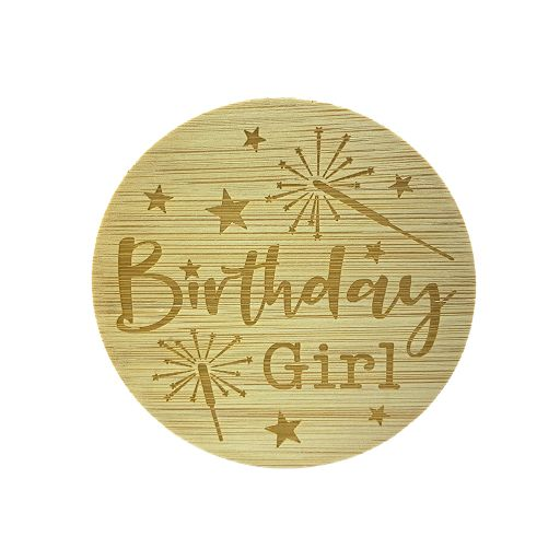 Bamboe deksel - Birthday Girl