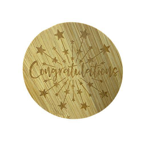 Bamboe deksel - Congratulations