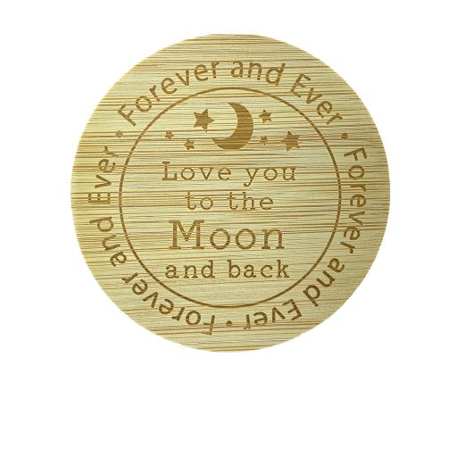 Bamboe deksel - Love you to the Moon and back