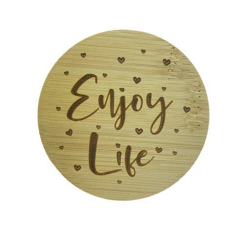 Bamboe deksel - Enjoy Life